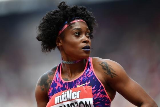 Jamaica's Elaine Thompson, pictured on July 9, 2017, won the 100m dash at the Rabat Diamond League