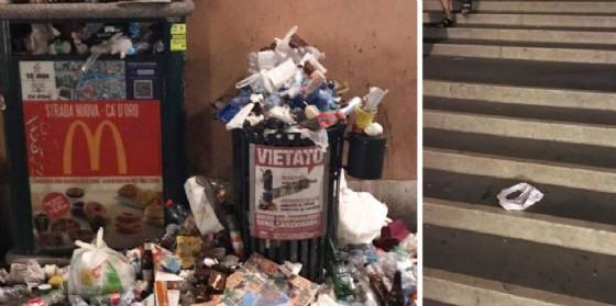 Degrado e sporcizia attorno al ponte degli Scalzi (© Venezia non è Disneyland)