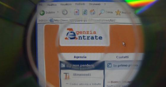 L'home page del sito web dell'Agenzia delle Entrate