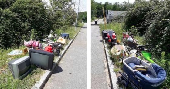 I rifiuti abbandonati a Mongrando