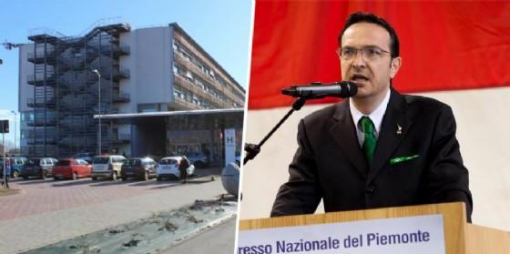 L'ospedale di Ponderano e Michele Mosca (© Diario di Biella)