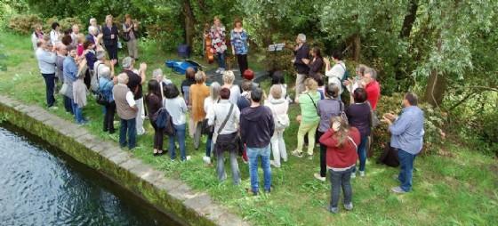 Poesia e musica lungo il canale di Miagliano, nel giugno dello scorso anno