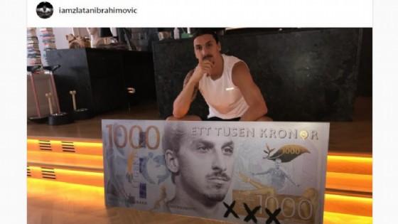 Ibrahimovic che spacconata! Il suo volto sulle corone svedesi: la banconota 'Ibra'