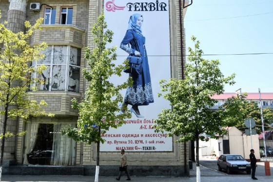 """""""We don't force women to wear a headscarf. But we remind them that this is the Chechen tradition and what our faith calls for,"""" the mayor said"""