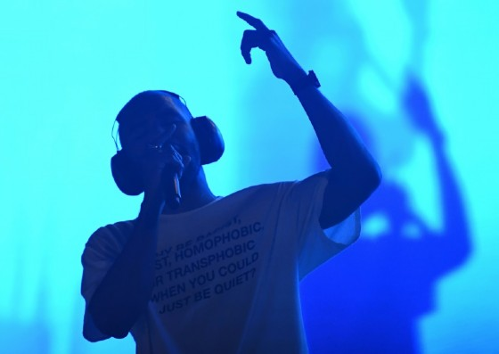 """Nearly a year after his long-awaited sophomore album """"Blonde,"""" singer Frank Ocean performed live in New York City, one of a handful of shows he is headlining this summer"""