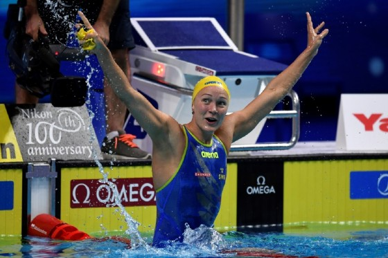 Sweden's Sarah Sjostrom set a new world record in the semi-finals of the 50m freestyle with a time of 23.67sec