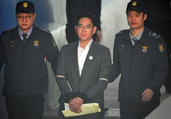 The firm's de facto leader Lee Jae-Yong is in custody after a February indictment over a nationwide bribery scandal that toppled then-president Park Geun-Hye.