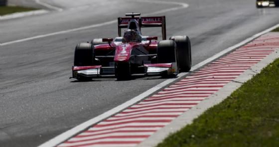 Charles Leclerc al volante della monoposto del team Prema all'Hungaroring