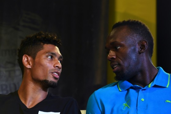 Usain Bolt (R) has tipped South Africa's Wayde van Niekerk to take over as the next track and field superstar