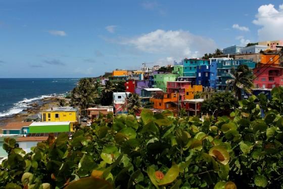 The neighbourhood of La Perla in Puerto Rico
