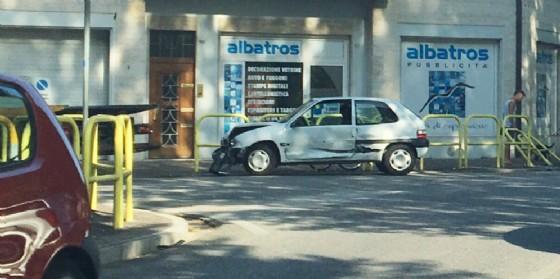 Incidente in via Martignacco: ferito un 86enne (© G.G.)