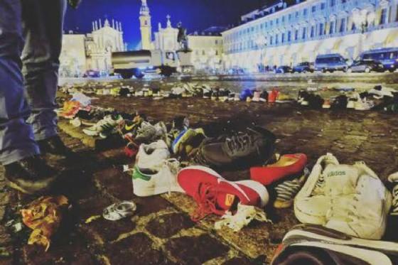 Notte di paura in piazza San Carlo (© Diario di Torino)