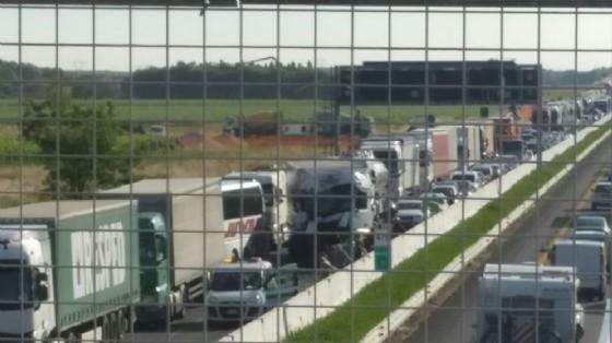 Incidente tra mezzi pesanti in A4: c'è una vittima (© Diario di Udine)