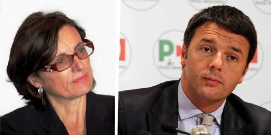 Nicoletta Favero e Matteo Renzi (© Diario di Biella)