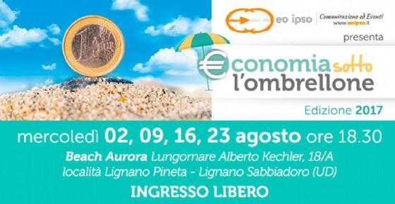 A Lignano Sabbiadoro si va a scuola di «Economia sotto l'ombrellone» (© Eo Ipso)