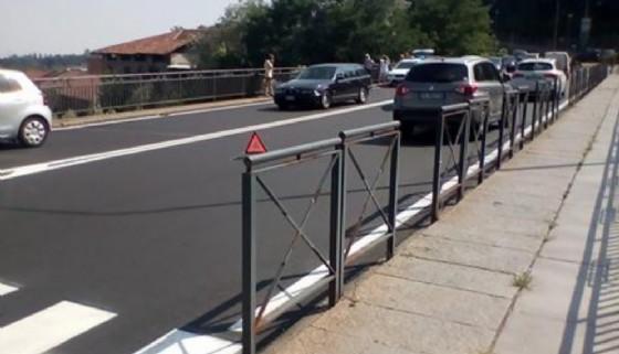 L'incidente stradale di oggi (© Diario di Biella)