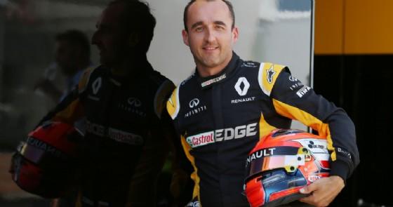 Robert Kubica con la tuta della Renault