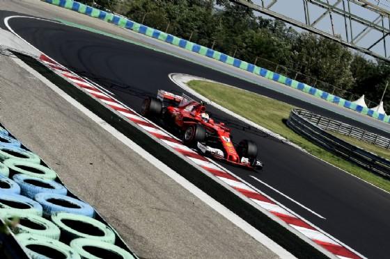 Sebastian Vettel, leader della seconda giornata di test all'Hungaroring