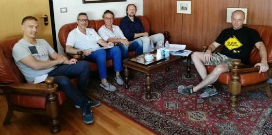 Primo appuntamento con il caffè del giovedì tra l'Assessore Sartori e il Presidente di Confcommercio Zotter (© Confcommercio Gorizia)