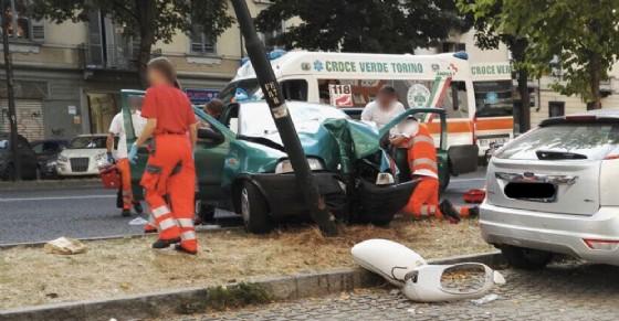 L'incidente di corso Ferrucci (© Diario di Torino)