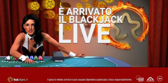Hitstars.it inaugura il Black Jack Live Perla (© Gruppo Hit)