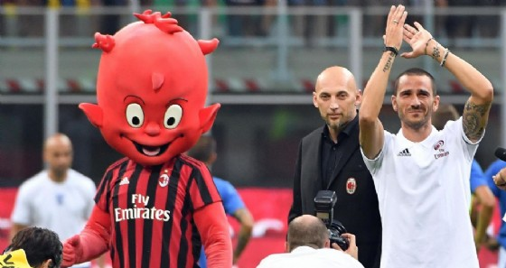 Il difensore del Milan Leonardo Bonucci