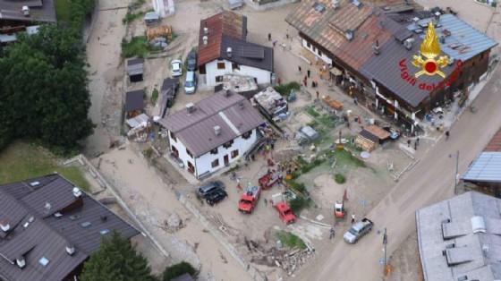 Bomba d'acqua a Cortina: è stata riaperta la strada