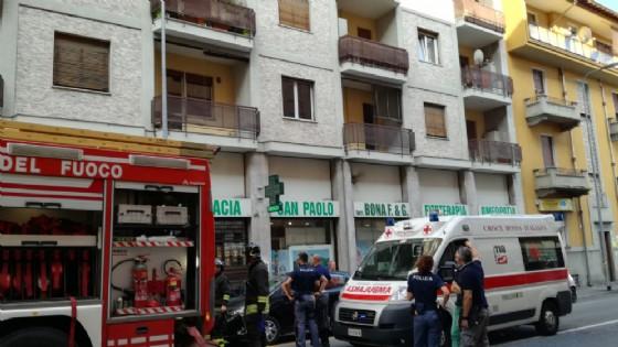 Scoppio e principio di incendio in Via Torino a Biella (© Diario di Biella)