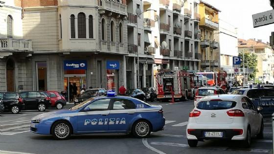 Scoppio e principio di incendio in Via Torino a Biella