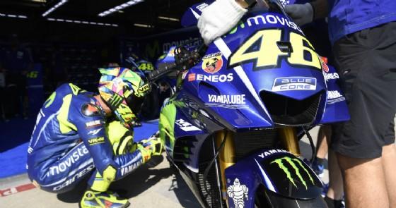 Valentino Rossi con la sua moto