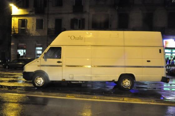 Il furgone che ha investito il pedone