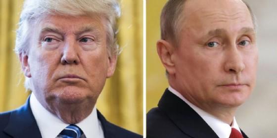 Il presidente Usa Donald Trump e quello russo Vladimir Putin