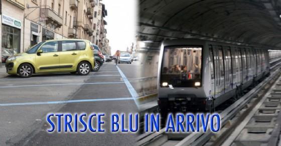 Strisce blu in arrivo in via Nizza (© Diario di Torino)