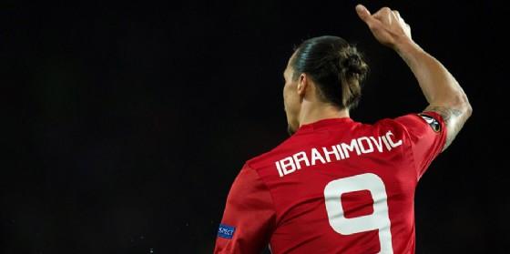Zlatan Ibrahimovic, 36 anni il prossimo 3 ottobre, in azione con la maglia del Manchester United