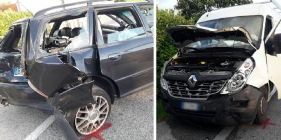 Tamponamento tra due auto e un furgone sulla statale: un ferito (© G.G.)