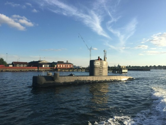 The 'Nautilus' submarine, which was being towed back to Copenhagen on Saturday