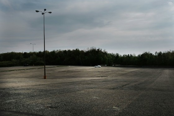 The near-empty parking lot at the once-bustling Schuylkill Mall in Frackville, Pennsylvania, where store owners were told in May they had 90 days to vacate their premises