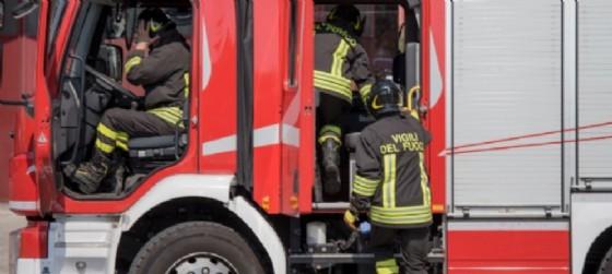 Vigili del fuoco in azione (© Diario di Trieste)