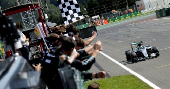 L'arrivo del Gran Premio del Belgio 2016