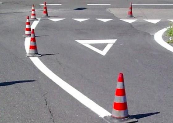 Lavori sulla segnaletica orizzontale (© Comune di Trieste)
