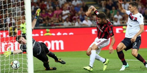 Il primo gol di Cutrone contro il Cagliari