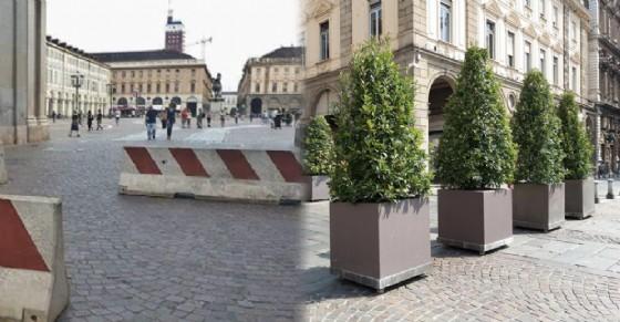 Le barriere poste in centro negli ultimi giorni (© Lo Russo/ANSA)