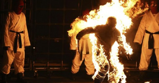 Un momento della performance di Kendrick Lamar alla MTV Video Music Awards
