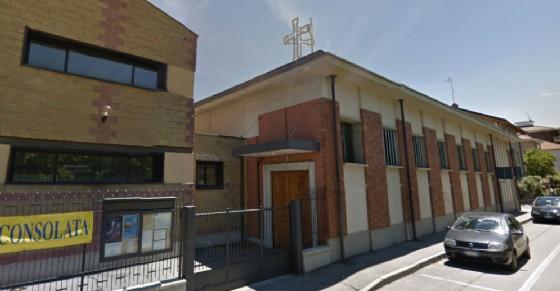 Parrocchia derubata in via Ulzio a Collegno (© Google Street View)