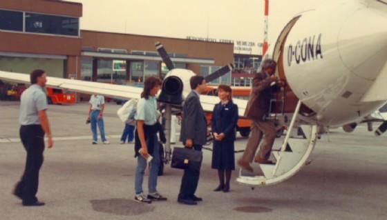 Il primo volo Lufthansa (© Trieste Airport)