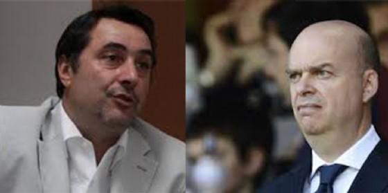 Massimiliano Mirabelli e Marco Fassone, direttore sportivo ed amministratore delegato del Milan