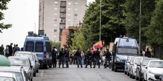 Manifestazione per l'accoglienza al Tiburtino III dello scorso giugno
