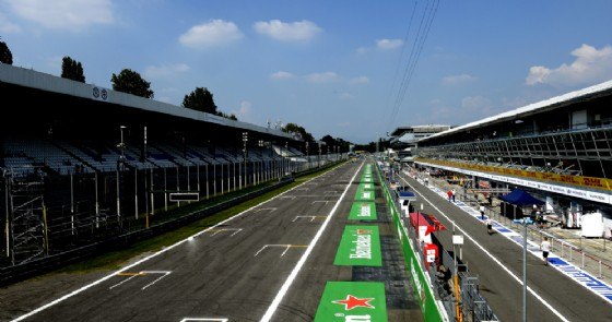 Il rettilineo principale dell'autodromo di Monza
