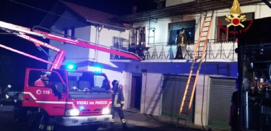 L'intervento dei vigili del fuoco (© Vigili del Fuoco di Biella)