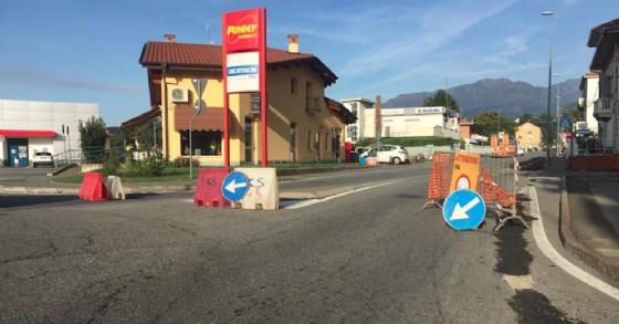 Cantiere aperto, da oggi, lungo la via Milano (© Diario di Biella)